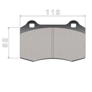 Колодки 107C74110 для 8-ми поршневого суппорта