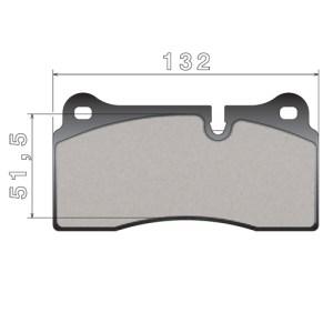 Колодки 07.B315.73 задние для Audi/Dodge/Ferrari/Lamborghini/Nissan