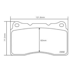 Колодки 07.B314.48 для Subaru WRX Sti, Impreza/Volvo S60/Renault Megane/Aston Martin/Alfa Romeo
