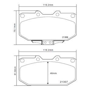 Колодки 07.B314.10 для Nissan/Subaru