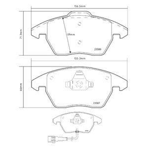 Колодки 07.В314.52 для Audi/Seat/Skoda/Volkswagen